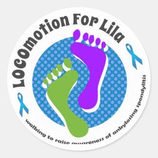 LOCOmotion for Lila Classic Round Sticker