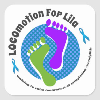 LOCOmotion for Lila Square Sticker