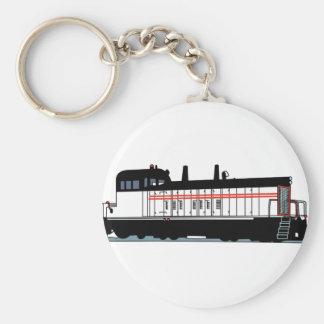 Locomotive Basic Round Button Keychain