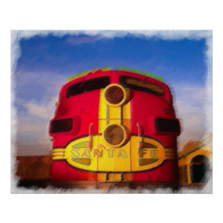 Locomotive Coming Right at You Posters