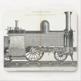 Locomotive Engine, engraved by J.W. Lowry Mouse Pad
