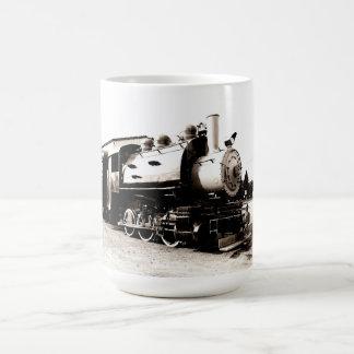 locomotive for a vintage steam train coffee mug