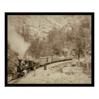 Locomotive in Black Hills SD 1890 Poster