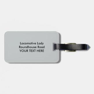 Locomotive Ladies Roundhouse Rosies World War I Bag Tag