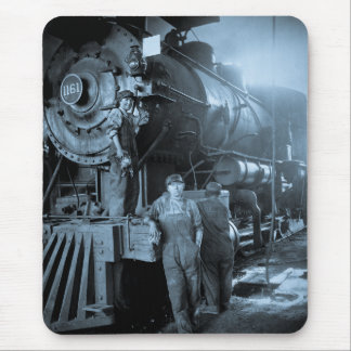 Locomotive Ladies Roundhouse Rosies World War I Mouse Pad