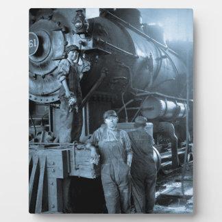 Locomotive Ladies Roundhouse Rosies World War I Display Plaques