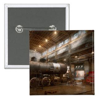 Locomotive - Locomotive repair shop Pinback Buttons