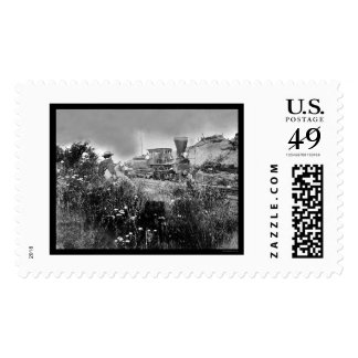 Locomotive on Orange & Alexandria Railroad 1862 Stamp