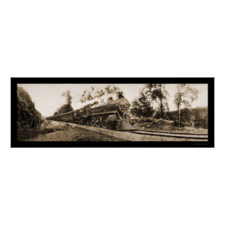 Locomotive Oregon Railroad Photo 1906 Print