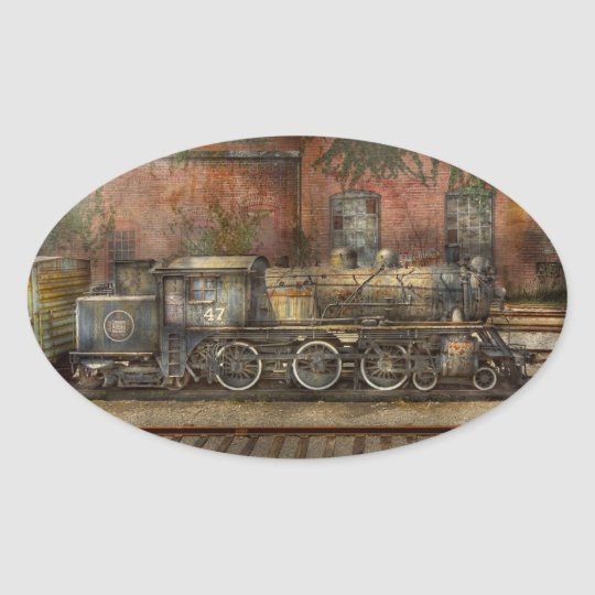 Locomotive - Our old family business Oval Sticker