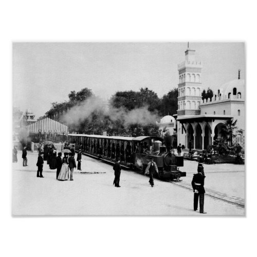 Locomotive Ride - Paris Exposition - 1889