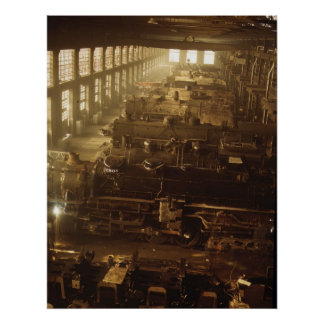 Locomotive Shop, 1942 Poster