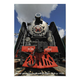 Locomotive, Soviet steam locomotive P36-0001. B... Card