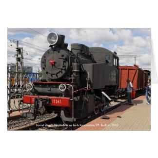 Locomotive, Soviet steam tenderless or tank loc... Card