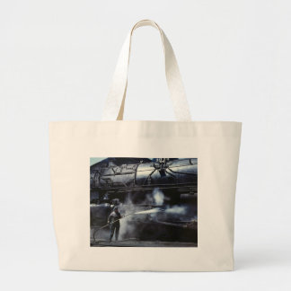 Locomotive Steam Bath: 1943 Large Tote Bag