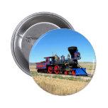 Locomotive Steam Engine Train Photo 2 Inch Round Button