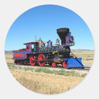 Locomotive Steam Engine Train Photo Classic Round Sticker