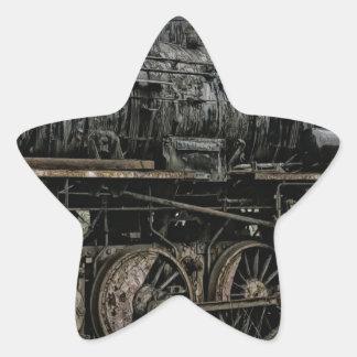 locomotive steam engine train rail railway star sticker