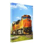 Locomotive Stretched Canvas Print