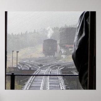 Locomotive Train #9 Brakeman Water Tower Poster
