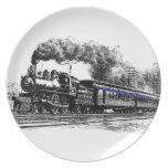 Locomotive & Train Dinner Plate