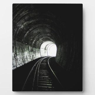 Locomotive tunnel plaque