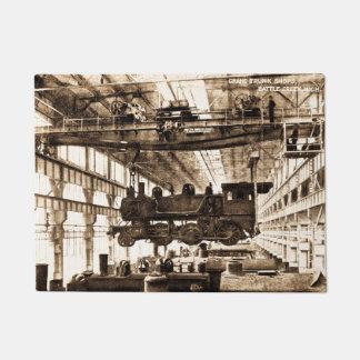 Locomotive Works Battle Creek Michigan Grand Trunk Doormat