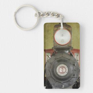 Locomotive Works Single-Sided Rectangular Acrylic Keychain