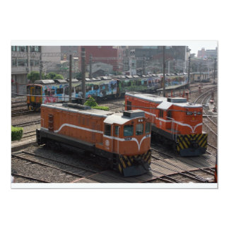 Locomotives at Changhua Roundhouse, Taiwan Card