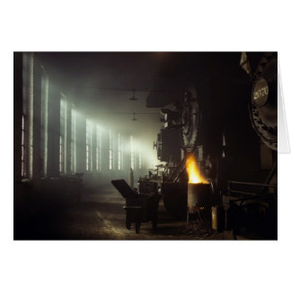 Locomotives Roundhouse Card