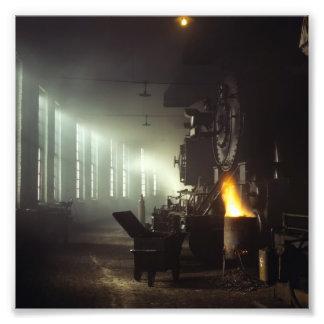 Locomotives Roundhouse Photograph