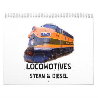 Locomotives- Steam And Diesel Wall Calendar