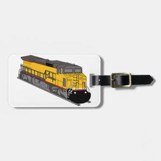 Locomotora 1 etiqueta de equipaje