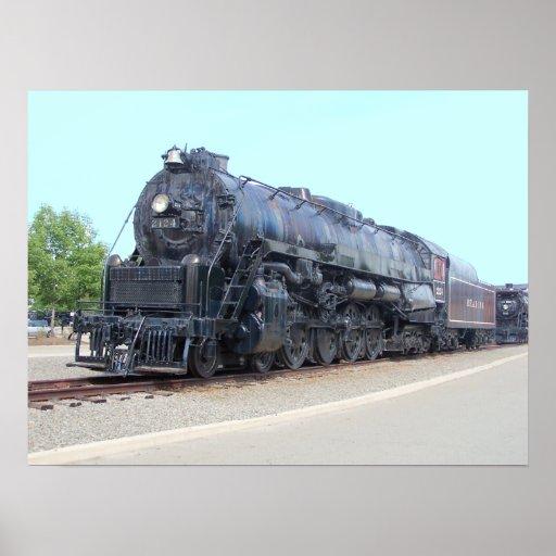 Locomotora 2124 del ferrocarril de la lectura de B Posters