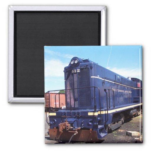 Locomotora #412 de Baldwin B&O Imán Cuadrado