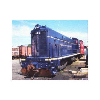 Locomotora 412 de Baldwin B&O Impresión En Lienzo Estirada