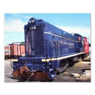 Locomotora 412 de los Trabajos-B O de la locomotor Impresiones Fotograficas