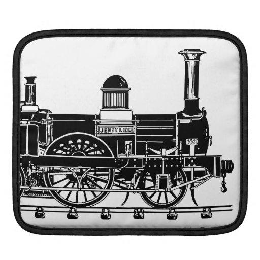 Locomotora adaptable del tren del vapor manga de iPad