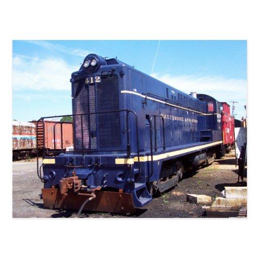 Locomotora de Baldwin B&O # 412 Postal