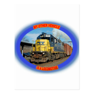 Locomotora de CSX Postales