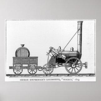 "Locomotora de George Stephenson, ""Rocket"", 1829 Póster"