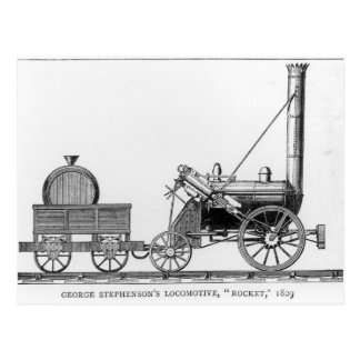 Locomotora de George Stephenson Rocket 1829 Tarjetas Postales