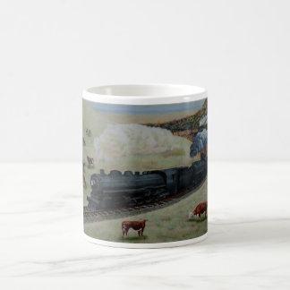 Locomotora de Jim Ivey--Taza de café Taza Básica Blanca