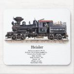 Locomotora de registración de Heisler Tapetes De Ratón