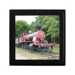 Locomotora de vapor americana del vintage caja de joyas