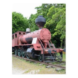 Locomotora de vapor americana del vintage tarjetas postales