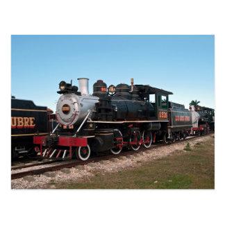 Locomotora de vapor, Cuba Postales