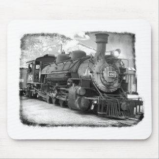 Locomotora de vapor de antaño alfombrillas de ratón