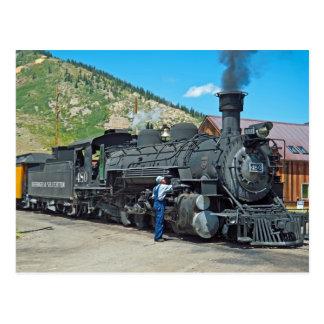 Locomotora de vapor de Durango y de Silverton 480 Tarjeta Postal