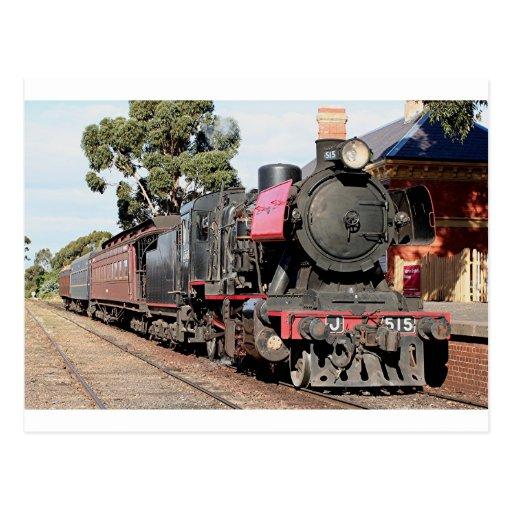 Locomotora de vapor de Goldfields, Victoria, Austr Tarjetas Postales